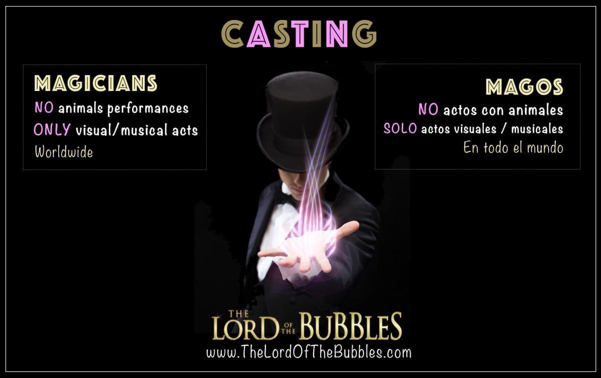Buscamos los mejores magos del mundo para nuestras próxima producciones