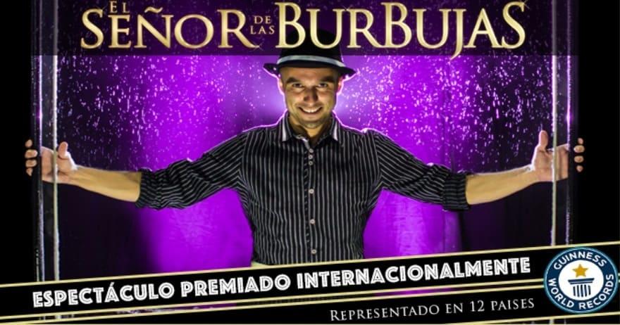 Espectáculo premiado internacionalmente. El Señor de las Burbujas.
